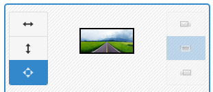 Screenshot of Image Slider Maker generator tool interface - showing image position set to stretch