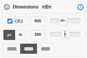 Responsive, width, height and corner rounding controls